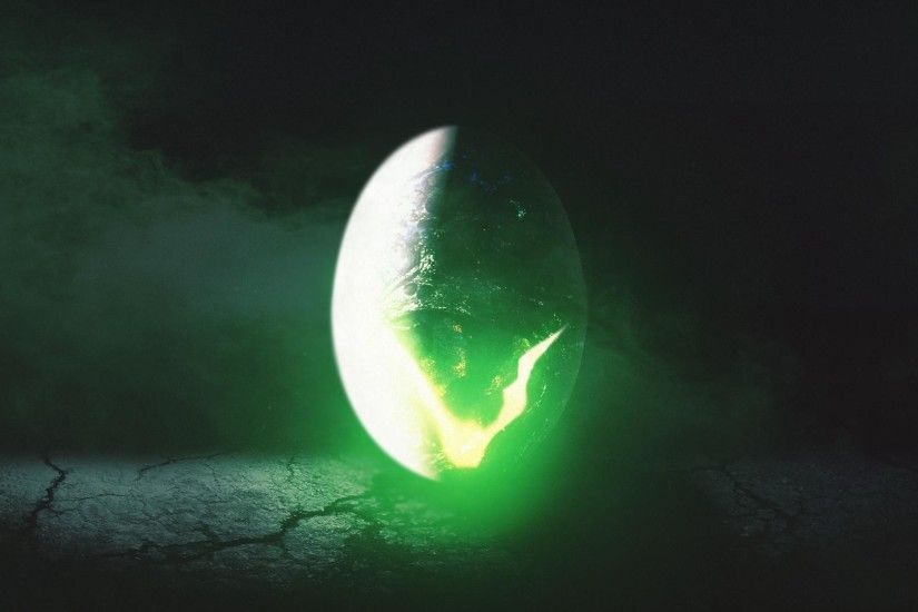Alien egg thing desktop wallpaper. AI + PS + random images and textures.  Hope someone likes it.