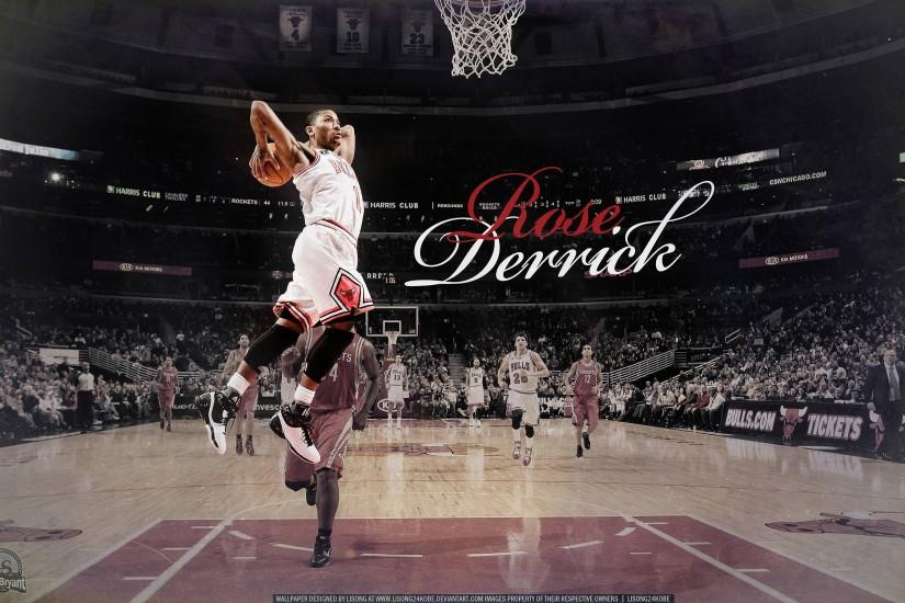 Wallpapers For > Derrick Rose Dunk Wallpaper