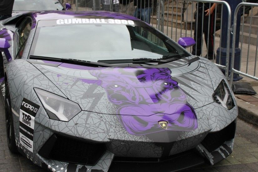 Preview wallpaper lamborghini, aventador, supercar, gumball 3000 1920x1080