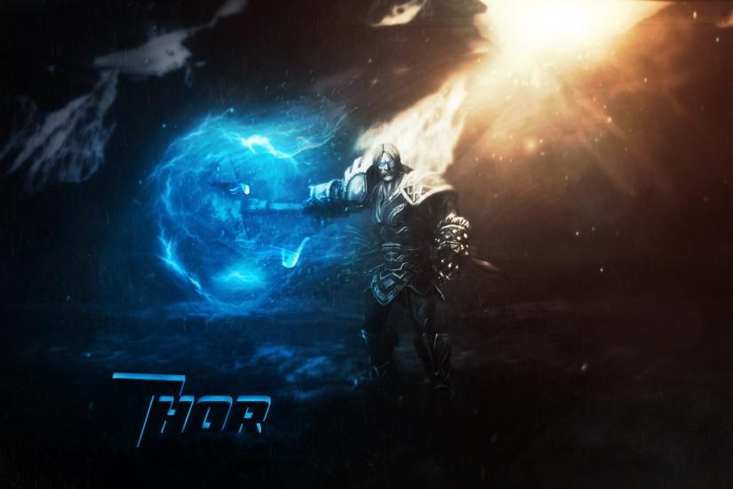 ... Thor wallpaper (Smite) by Banan163