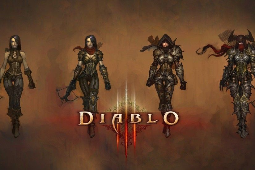 Video games Demon Hunter artwork Diablo III drawings wallpaper .