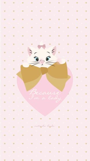 "Disney Aristocats Marie ""Because I'm a Lady"" free iphone background  wallpaper…"