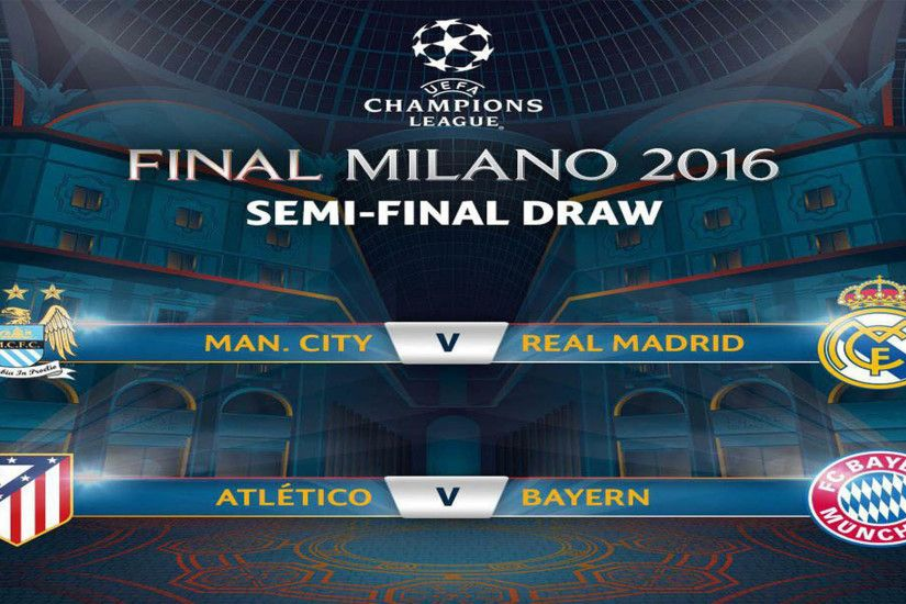UEFA Champions League Semi Finals 2016 Draws HD Wallpaper .