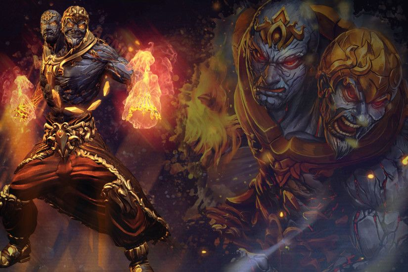 ... SMITE - Agni, God of Fire (Wallpaper) by Getsukeii