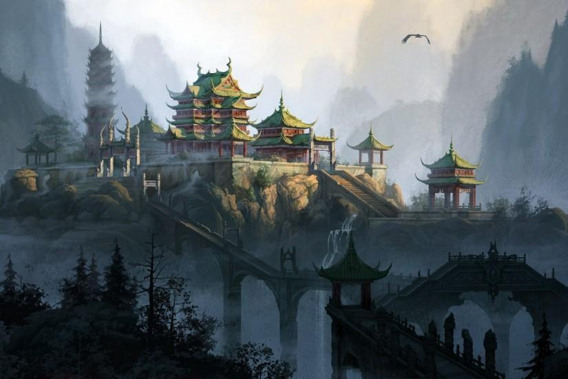 http://pixgood.com/chinese-mountain-temple.html |