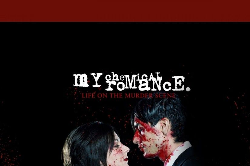 Preview wallpaper my chemical romance, cover, blood, sign, couple 1920x1080