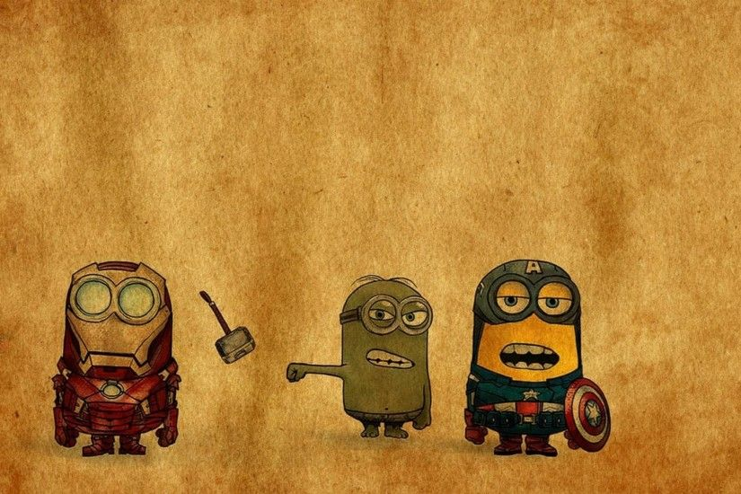 superhero, The Avengers, Minions, Captain America, Iron Man, Humor,  Despicable