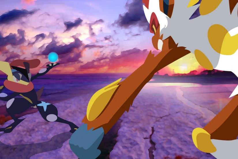 ... DrewJayJohnson Greninja-vs-Infernape-Sunset by DrewJayJohnson