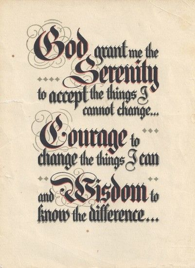 The Serenity Prayer and A.A.