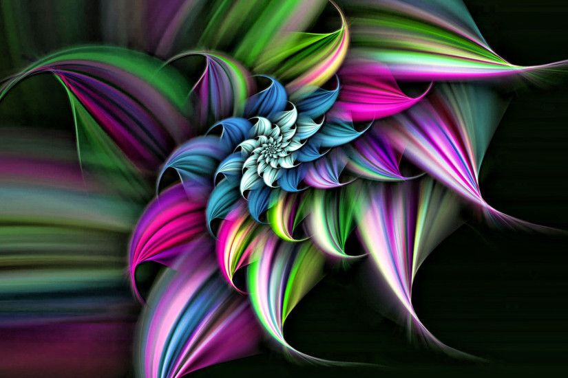 hd pics photos 3d abstract colors leaf wallpaper