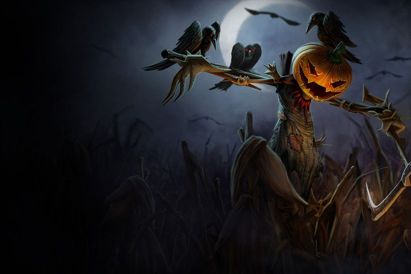 Pumpkin Head Fiddlesticks Wallpaper - LeagueSplash