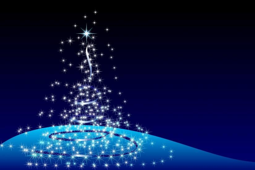 Blue Christmas Tree Background (20)