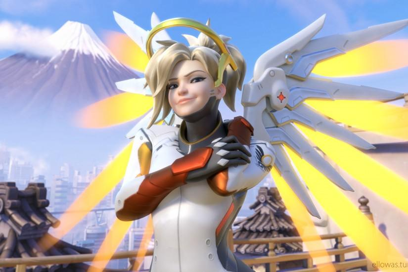 free overwatch mercy wallpaper 3840x2160 for android