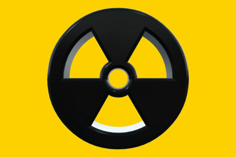 Moving Nuclear Radioactive Radiation Symbol Logo Motion Background -  VideoBlocks