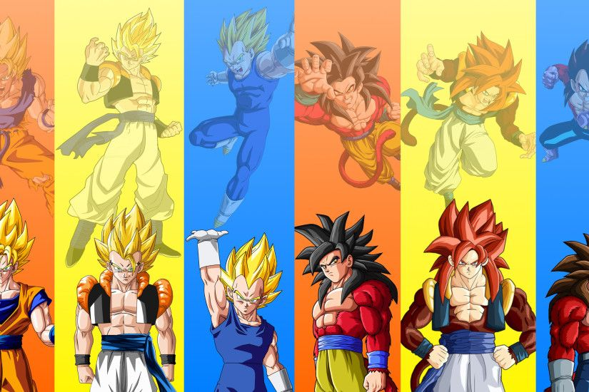 Gogeta Base and SSJ · Gogeta SSJ and SSJ4
