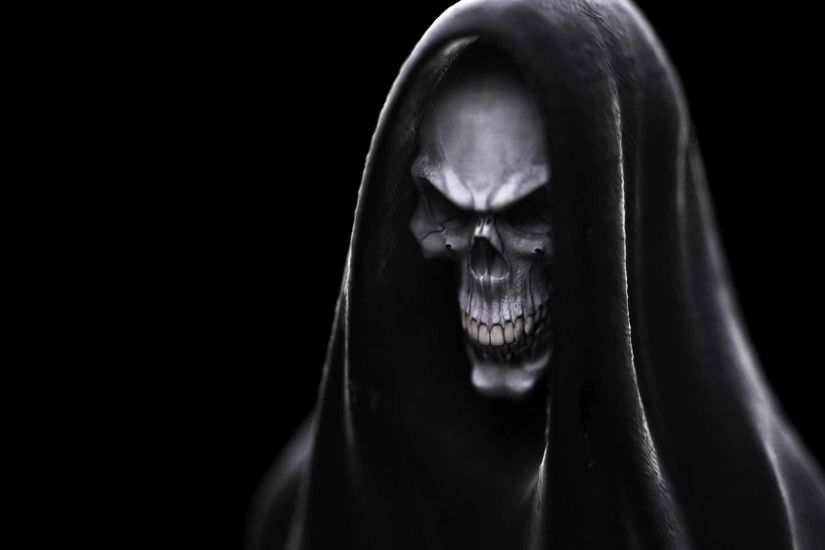 Dark - Skull Demon Grim Reaper Dark Wallpaper