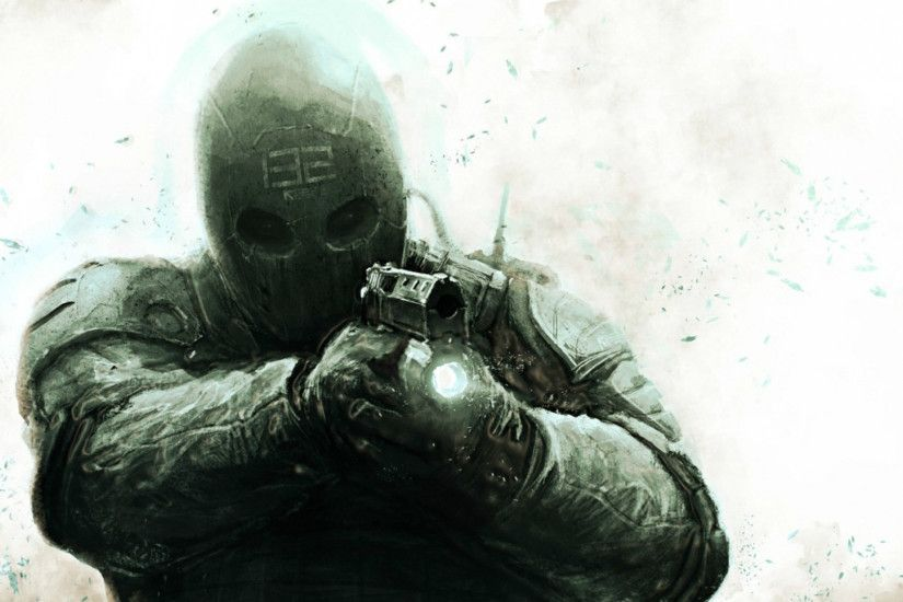 Preview wallpaper army of two, soldiers, special forces, equipment, mask  1920x1080