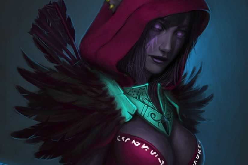 art wow world of warcraft night elf elf hood feathers