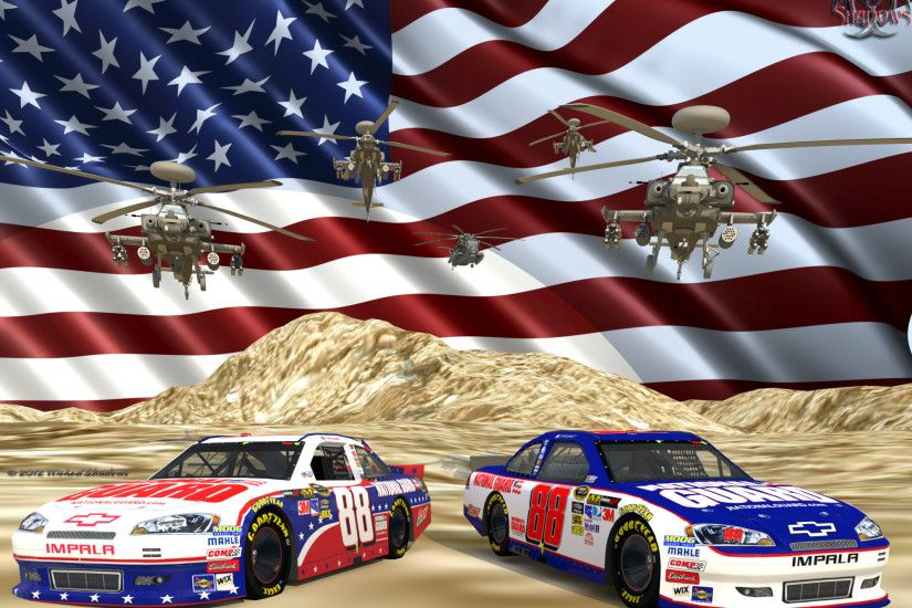 le Dale Earnhardt Jr. Nascar Unites National Guard Ver. 2 Wallpaper  Facebook Cover Photo | 4x3 ...