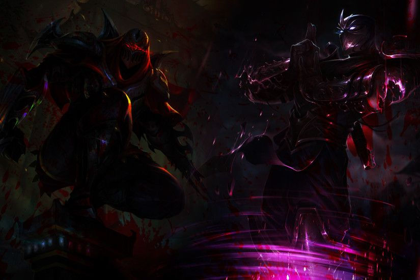 ... Zed and Shen Wallpaper by xsurfspyx