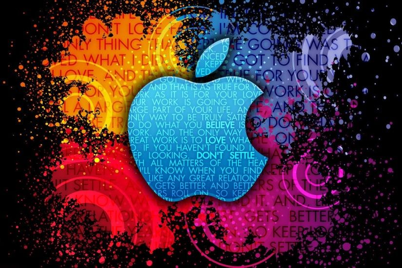 typography, Apple Inc., Paint Splatter, Colorful Wallpapers HD / Desktop  and Mobile Backgrounds