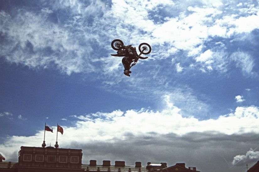 Preview wallpaper dirt bike, motorcycle, jump, show, sports, fmx, st