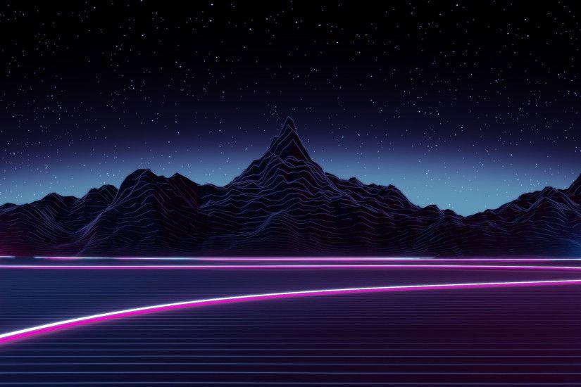Retro Wallpaper Aesthetic Purple