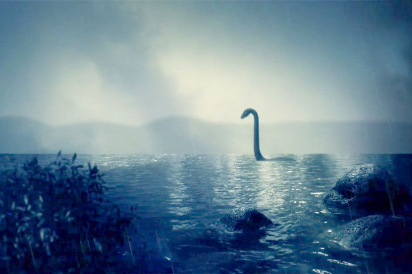The Loch Ness Monster Swimming in the Lake Under a Storm Stock Video  Footage - VideoBlocks