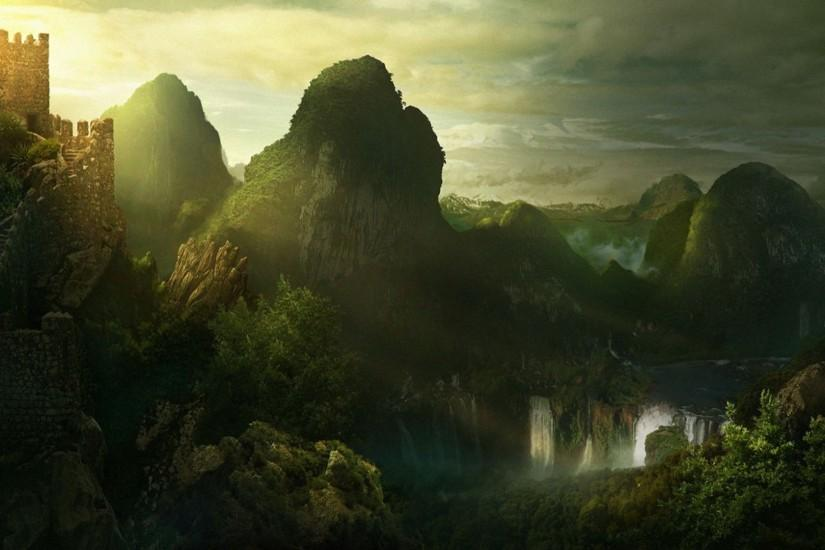 cool fantasy landscape wallpaper 1920x1080 for htc