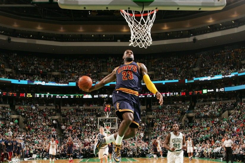 Lebron james wallpaper cavs dunking