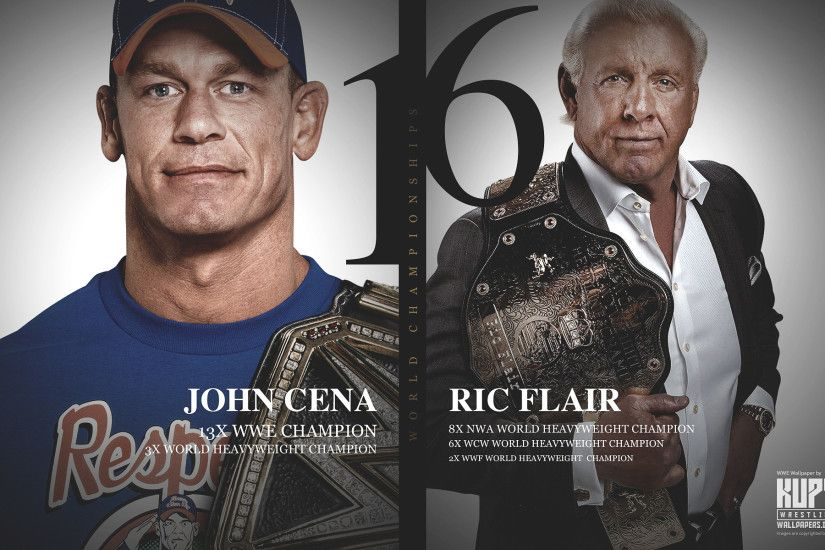 Ric Flair and John Cena 16x World Champions wallpaper 1920×1200 ...