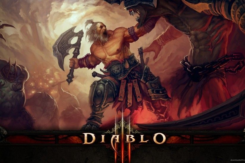 Diablo 3 Barbarian for 1920x1080