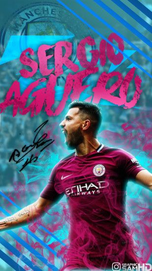 Sergio Agüero Phone Wallpaper 2017/2018