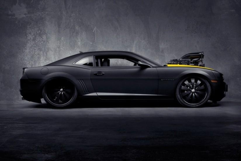 Chevrolet muscle car concept camaro images black matte.