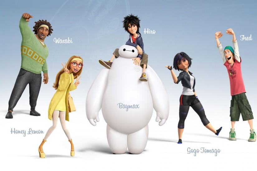Big Hero 6 Characters Wallpaper