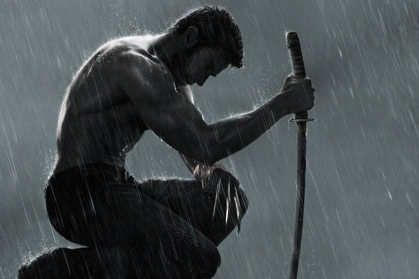 Hugh Jackman Katana Marvel Comics Rain The Wolverine
