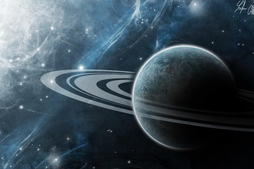 Wallpaper art, space, universe, planet, saturn, rings wallpapers space .