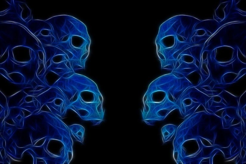 3840x2160 Wallpaper skulls, neon, color, white, dark