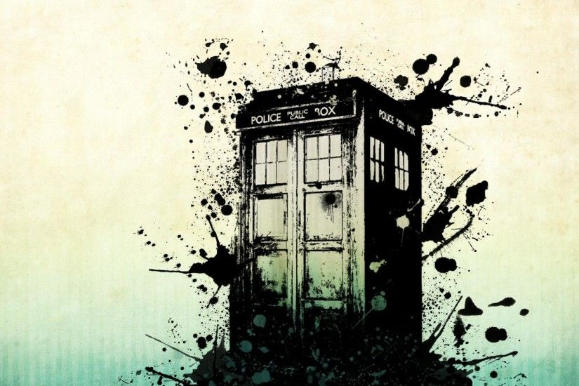 Police Box Broken Painted Elegance Amazing High Quality Doctor Who Wallpaper  Simple Black Darkness Combination Brightness
