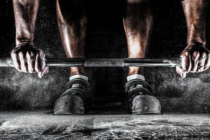 Barbell on the floor, lifting - HD wallpaper download. Wallpapers .