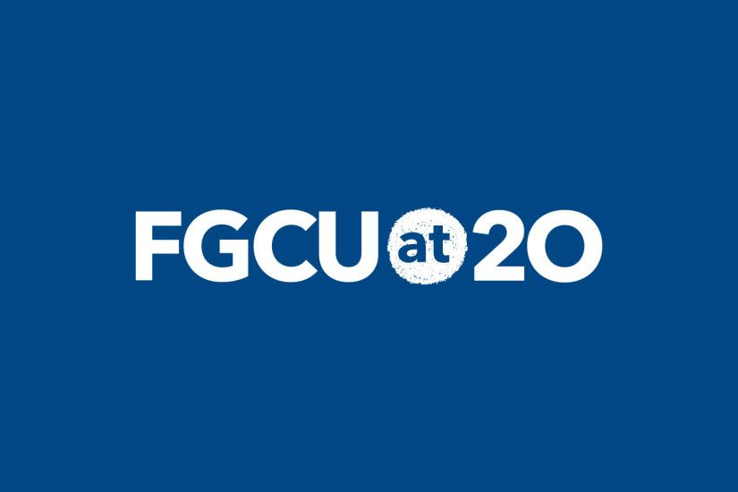 FGCU at 20 Logo Background