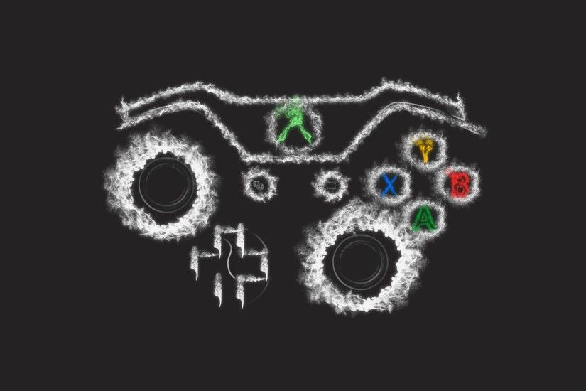 Controller Smoke Art Xbox One Wallpaper