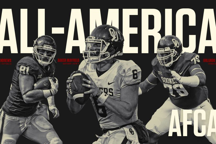 Three Sooners Named Unanimous All-Americans. stop. Athletics Communications