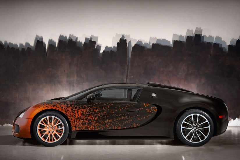 Download Fire Painted Bugatti Veyron Car Hd Wallpaper