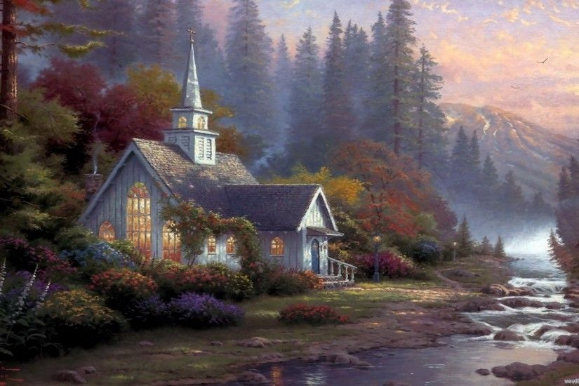 ... Great Thomas Kinkade Wallpaper Download free wallpapers and desktop  backgrounds in a variety of screen resolutions