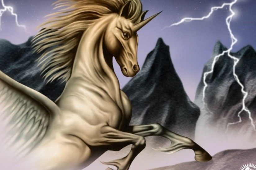 Wonderful Unicorn White Horse Fantasy Hd Wallpaper Wallpapers13