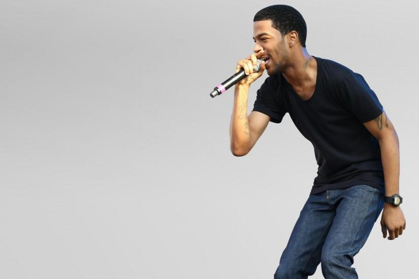 1920x1200 Wallpaper kid cudi, rapper, singer, microphone