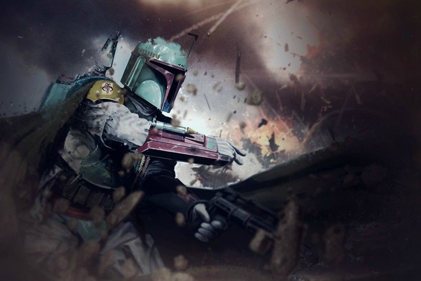 Star Wars, Boba Fett, Weapon, Cape, Debris Wallpapers HD / Desktop and  Mobile Backgrounds