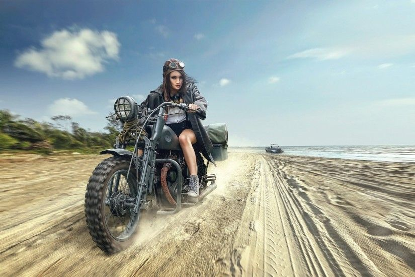 women, Women With Motorcycles, Motorcycle Wallpapers HD / Desktop and  Mobile Backgrounds