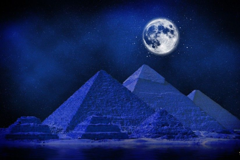 abstract digital backgrounds,blue, midnight, artwork, cool images,  widescreen images, full, pyramids, colourful pictures, digital,free images,  art, deserts, ...